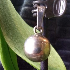 silver chime globe pendant stamped